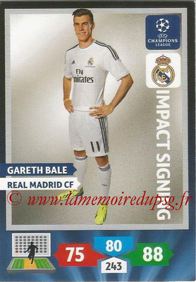 2013-14 - Adrenalyn XL champions League N° 284 - Gareth BALE (Real Madrid CF) (Impact Signing)
