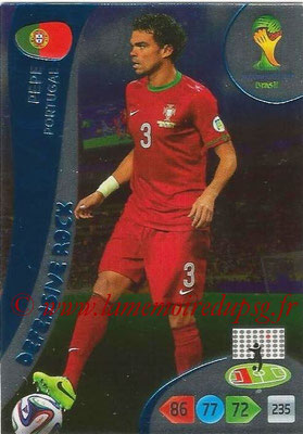 2014 - Panini FIFA World Cup Brazil Adrenalyn XL - N° 376 - PEPE (Portugal) (Defensive Rock)