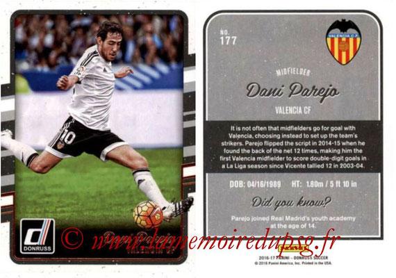 2016 - Panini Donruss Cards - N° 177 - Dani PAREJO (FC Valence)