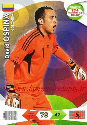 2014 - Panini Road to FIFA World Cup Brazil Adrenalyn XL - N° 028 - David OSPINA (Colombie)