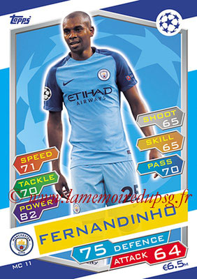 2016-17 - Topps UEFA Champions League Match Attax - N° MC11 - FERNANDINHO (Manchester City FC)