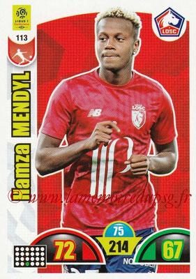 2018-19 - Panini Adrenalyn XL Ligue 1 - N° 113 - Hamza MENDYL (Lille)