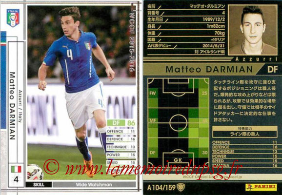 2015-16 - Panini WCCF - N° A104 - Matteo DARMIAN (Italie)