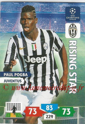 2013-14 - Adrenalyn XL champions League N° 152 - Paul POGBA (Juventus FC) (Rising Star)
