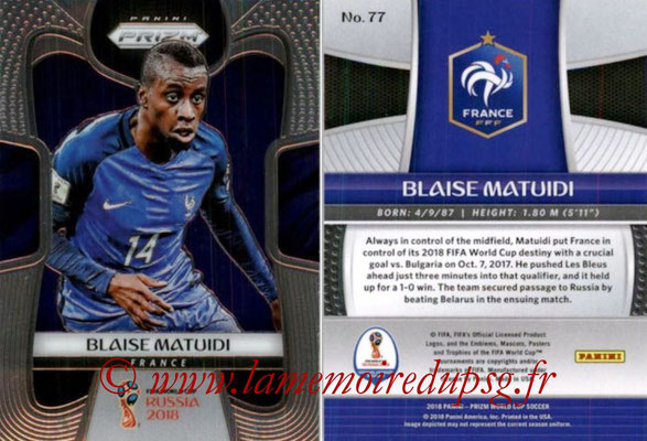 2018 - Panini Prizm FIFA World Cup Russia - N° 077 - Blaise MATUIDI (France)