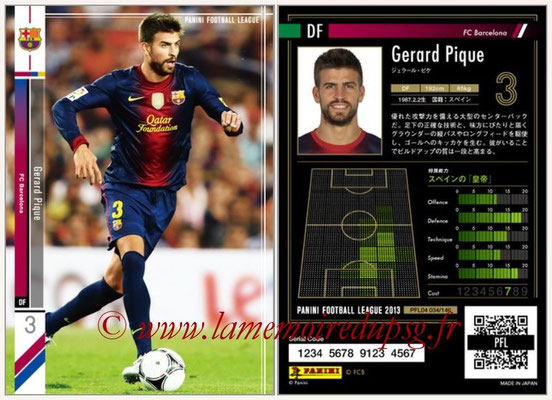 Panini Football League 2013 - PFL04 - N° 034 - Gerard PIQUE (FC Barcelone)