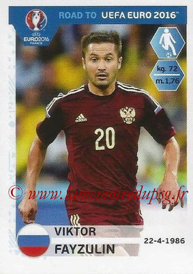 Panini Road to Euro 2016 Stickers - N° 266 - Viktor FAYZULIN (Russie)