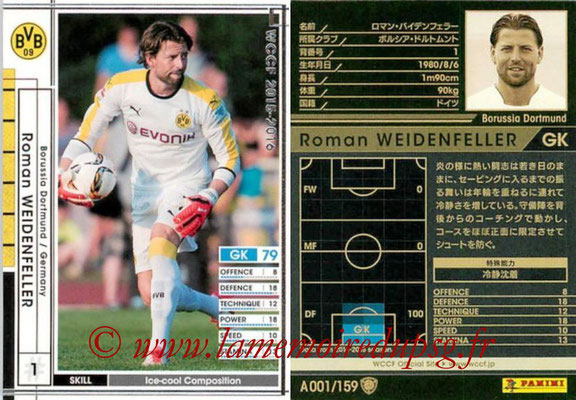 2015-16 - Panini WCCF - N° A001 - Roman WEIDENFELLER (Borussia Dortmund)