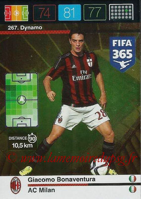2015-16 - Panini Adrenalyn XL FIFA 365 - N° 267 - Giacomo BONAVENTURA (Milan AC) (Dynamo)