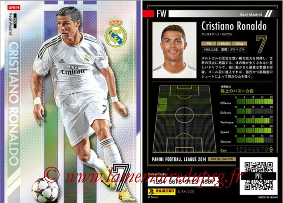Panini Football League 2014 - PFL08 - N° 164 - Cristiano RONALDO (Real Madrid) (Super FW)