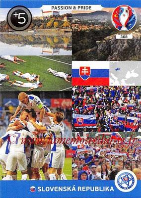 Panini Euro 2016 Cards - N° 368 - Passion and Pride de Slovenie