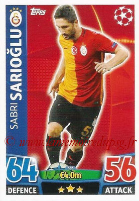 2015-16 - Topps UEFA Champions League Match Attax - N° 383 - Sabri SARIOGLU (Galatasaray AS)