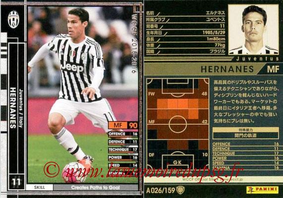 2015-16 - Panini WCCF - N° A026 - HERNANES (Juventus FC)