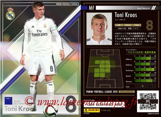 Panini Football League 2015 - PFL13 - N° 042 - Toni KROOS (Real Madrid) (Star +)