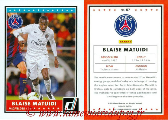 2015 - Panini Donruss Soccer - N° 057 - Blaise MATUIDI (Paris Saint-Germain)