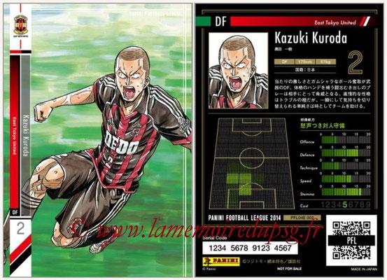 Panini Football League 2014 - PFL04E - N° 002 - Kazuki Kuroda (East Tokyo United)