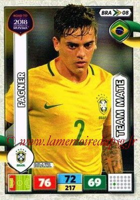 2018 - Panini Road to FIFA World Cup Russia Adrenalyn XL - N° BRA08 - FAGNER (Brésil)