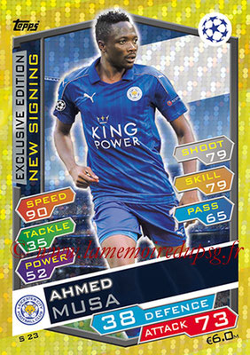 2016-17 - Topps UEFA Champions League Match Attax - N° S23 - Ahmed MUSA (Leicester City FC) (New Signing) (Exclusive Edition)
