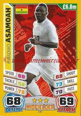 Topps Match Attax England 2014 - N° 130 - Kwadwo ASAMOAH (Ghana)