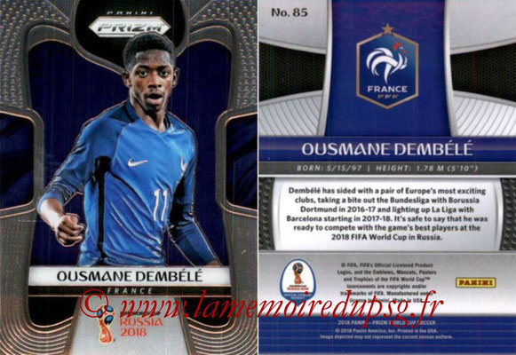 2018 - Panini Prizm FIFA World Cup Russia - N° 085 - Ousmane DEMBELE (France)