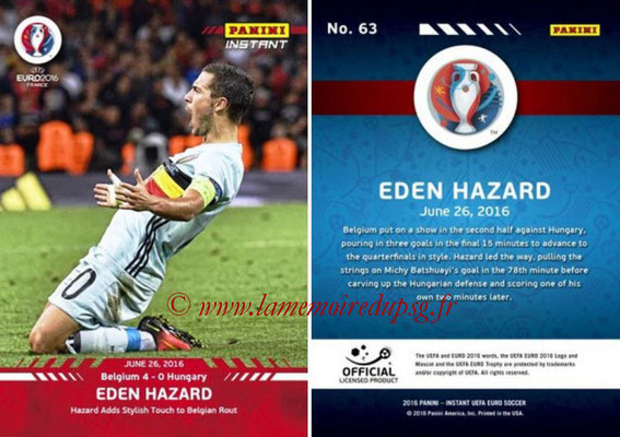 Panini Instant Euro 2016 - N° 063 - Eden HAZARD