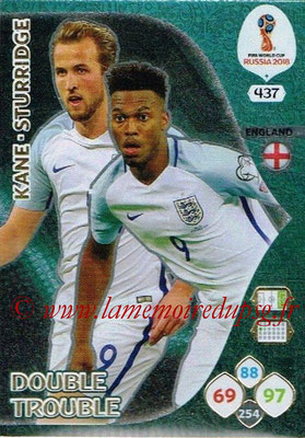 2018 - Panini FIFA World Cup Russia Adrenalyn XL - N° 437 - Harry KANE + Daniel STURRIDGE (Angleterre) (Double Trouble)