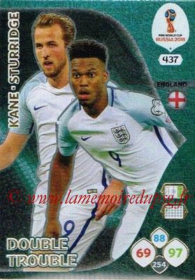 2018 - Panini FIFA World Cup Russia Adrenalyn XL - N° 437 - Harry KANE + Daniel STURRIDGE (Angleterre) (Double Trouble)