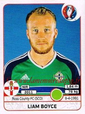 Panini Euro 2016 Stickers - N° 342 - Liam BOYCE (Irlande du Nord)