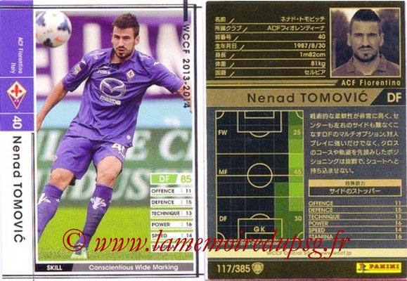 2013-14 - WCCF - N° 117 - Nenad TOMOVIC (ACF Fiorentina)