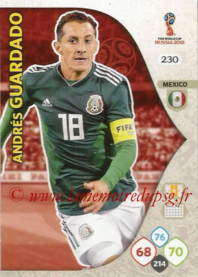 2018 - Panini FIFA World Cup Russia Adrenalyn XL - N° 230 - Andrés GUARDADO (Mexique)