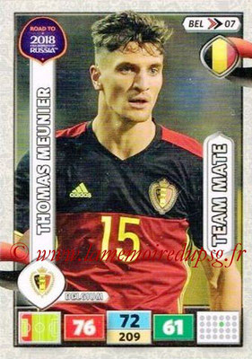 2018 - Panini Road to FIFA World Cup Russia Adrenalyn XL - N° BEL07 - Thomas MEUNIER (Belgique)