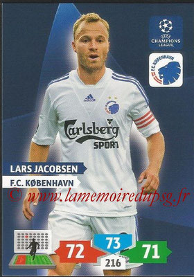 2013-14 - Adrenalyn XL champions League N° 155 - Lars JACOBSEN (FC Kobenhavn)