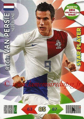 2014 - Panini Road to FIFA World Cup Brazil Adrenalyn XL - N° 138 - Robin VAN PERSIE (Pays-Bas) (Star Player)