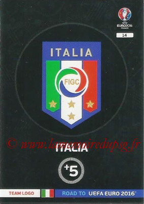 Panini Road to Euro 2016 Cards - N° 014 - Ecusson Italie