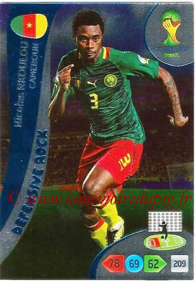 2014 - Panini FIFA World Cup Brazil Adrenalyn XL - N° 364 - Nicolas NKOULOU (Cameroun) (Defensive Rock)