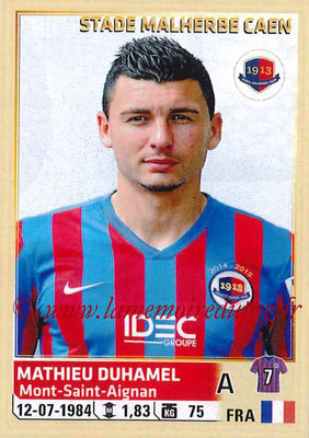 2014-15 - Panini Ligue 1 Stickers - N° 067 - Mathieu DUHAMEL (SM Caen)