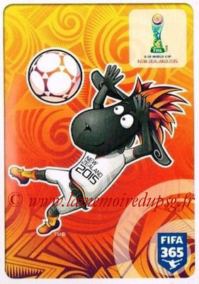 2015-16 - Panini FIFA 365 Stickers - N° 011 - Logo FIFA U-20 World Cup New Zealand 2015