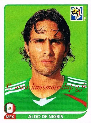 2010 - Panini FIFA World Cup South Africa Stickers - N° 066 - Aldo DE NIGRIS (Méxique)