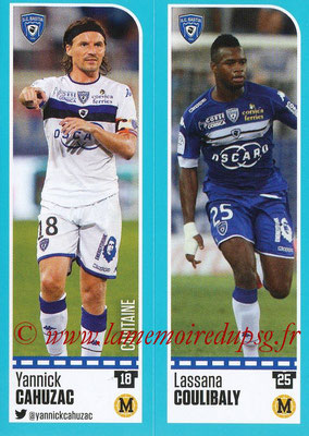 2016-17 - Panini Ligue 1 Stickers - N° 056 + 057 - Yannick CAHUZAC + Lassana COULIBALY (Bastia)
