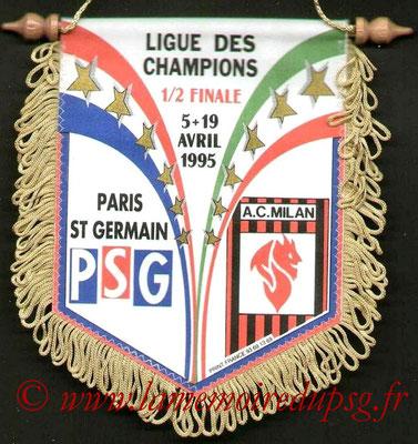 Fanions  PSG-Milan AC  1994-95