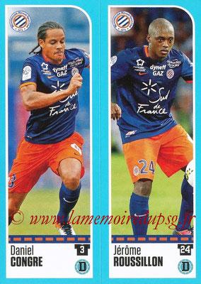 2016-17 - Panini Ligue 1 Stickers - N° 516 + 517 - Daniel CONGRE + Jérôme ROUSSILLON (Montpellier)