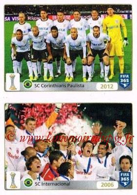 2015-16 - Panini FIFA 365 Stickers - N° 017-018 - SC Corinthians Paulista (2012) - SC Internacional (2006) (FIFA Club World Cup)