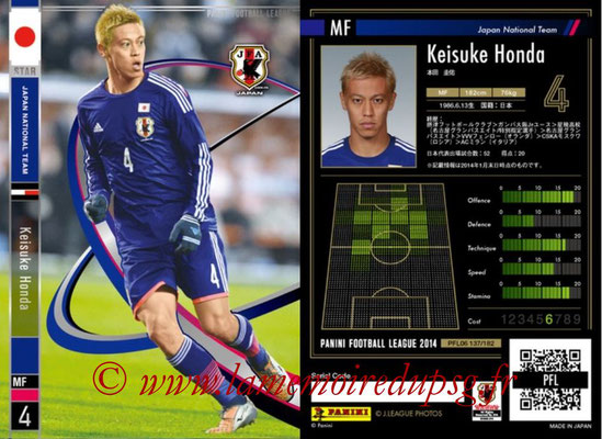 Panini Football League 2014 - PFL06 - N° 137 - Keisuke HONDA (Japon) (Star)