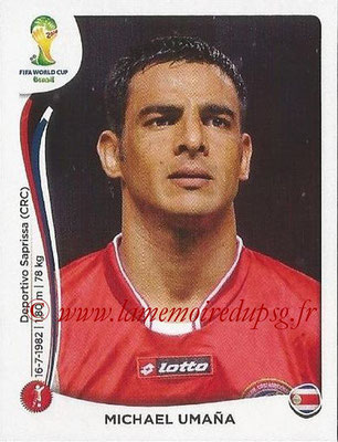2014 - Panini FIFA World Cup Brazil Stickers - N° 283 - Michael UMANA (Costa Rica)