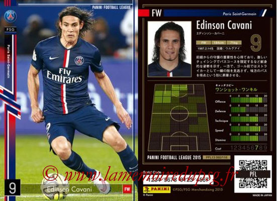 Panini Football League 2015 - PFL13 - N° 060 - Edinson CAVANI (Paris Saint-Germain)