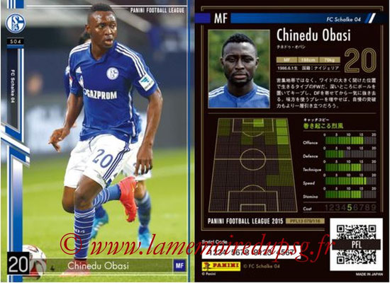 Panini Football League 2015 - PFL13 - N° 079 - Chinedu OBASI (FC Schalke 04)