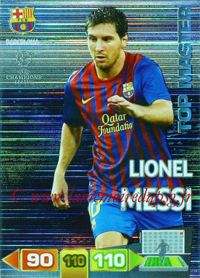 2011-12 - Panini Champions League Cards - N° 353 - Lionel MESSI  (FC Barcelone) (Top Master)