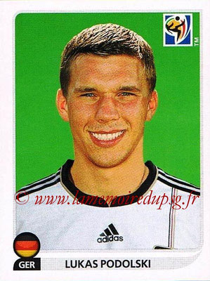 2010 - Panini FIFA World Cup South Africa Stickers - N° 274 - Lukas PODOLSKI (Allemagne)