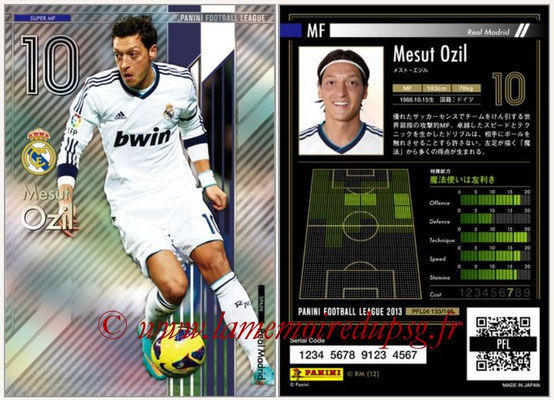 Panini Football League 2013 - PFL04 - N° 133 - Mesut OZIL (Real Madrid) (Super MF)
