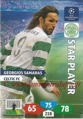 2013-14 - Adrenalyn XL champions League N° 115 - Georgios SAMARAS (Celtic FC) (Star Player)